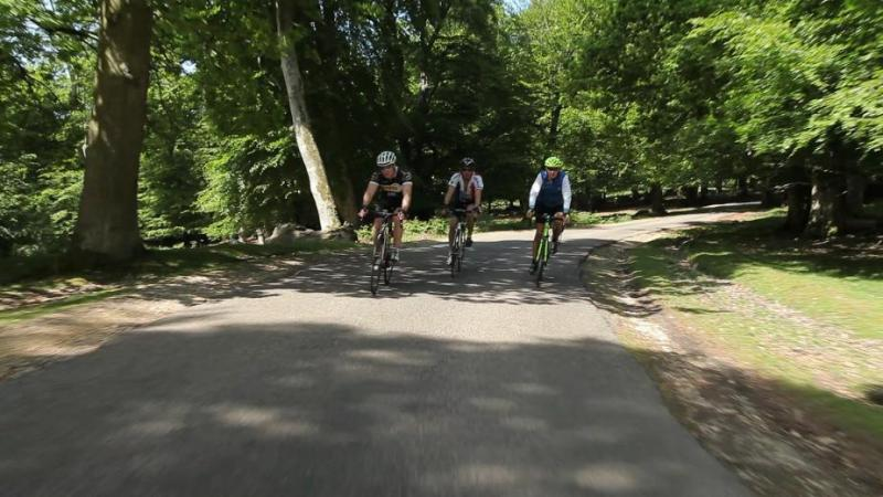 Sportive ride image of riders