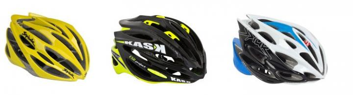 Image of three cycling helmets