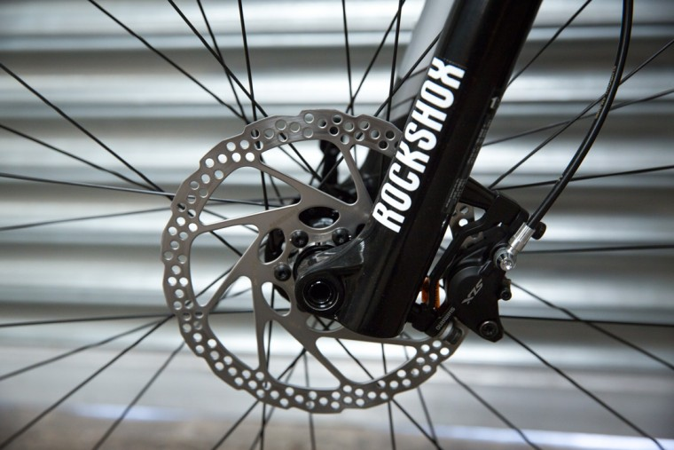 A Shimano brake disc from its groupset