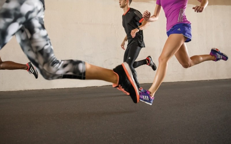 image of advanced level runners on a group run