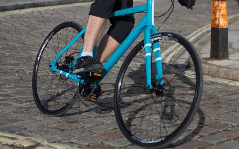 image of man on commuter bike