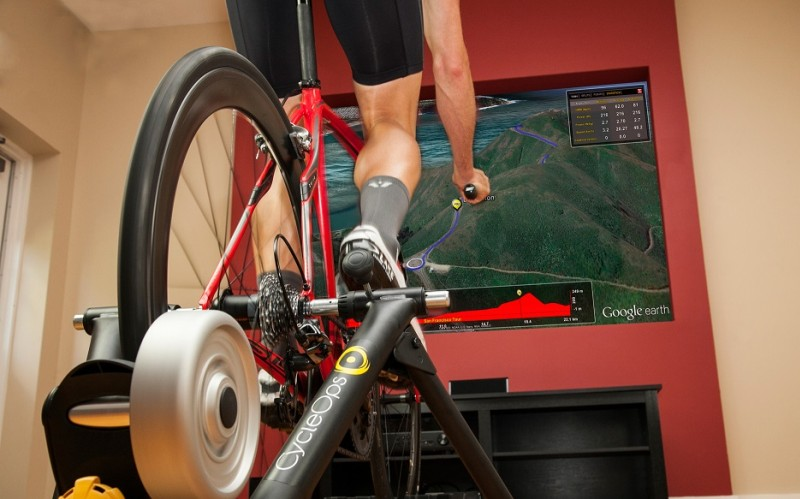 Man using CycleOps virtual training products