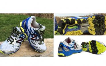 Collated images of New Balance running shoe