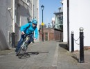 Image of cyclist cornering on bike