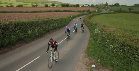 image of Sportive riders in countryside
