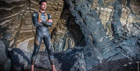 man wearing Zone 3 wetsuit