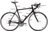 bike infographic of a Verenti road bike