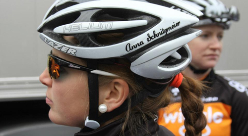 Cycle helmet ... Team Wiggle Honda