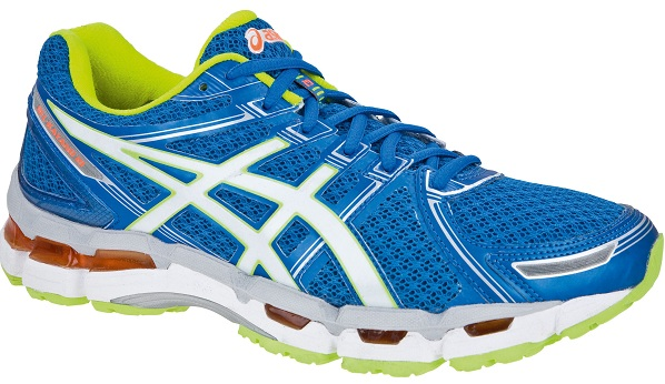 Asics Gel-Kayano 19 Shoes stability running blue white yellow