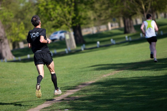 A runner during a parkrun