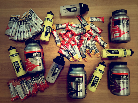 SiS bundle of protein supplements and branded bottles